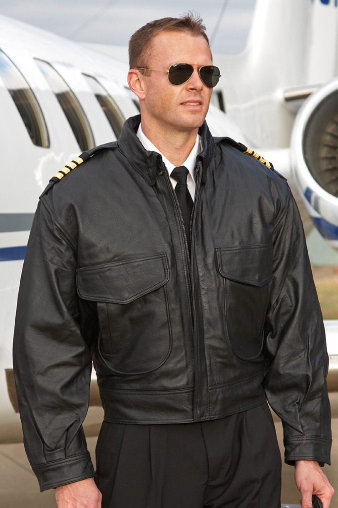 Keep the rain off that nicely pressed pilot shirt with this vintage Leather Flight Jacket. Of course, parked at Galaxy FBO under our canopy, you probably won't need this but for travels further afield this jacket is an essential and functional gift for every sharp looking pilot.