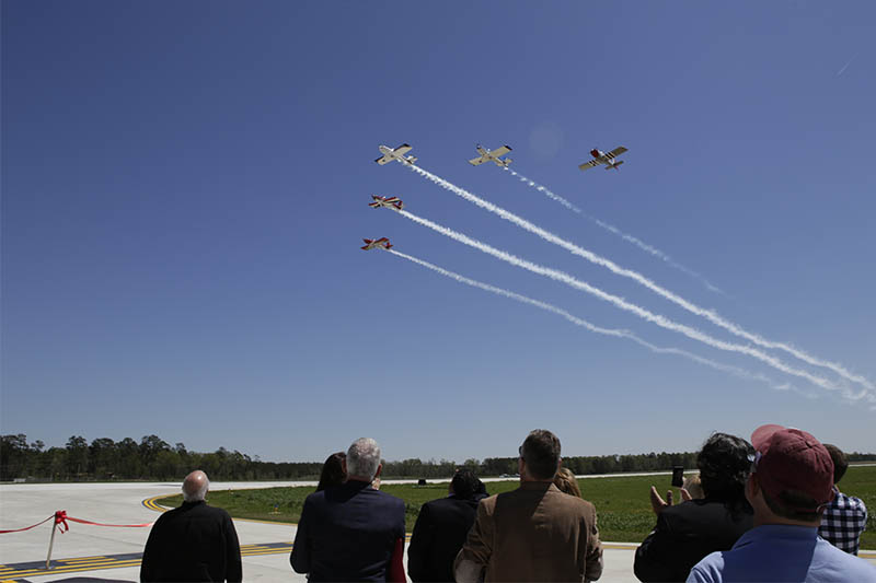 Ribbon Cutting Fly over