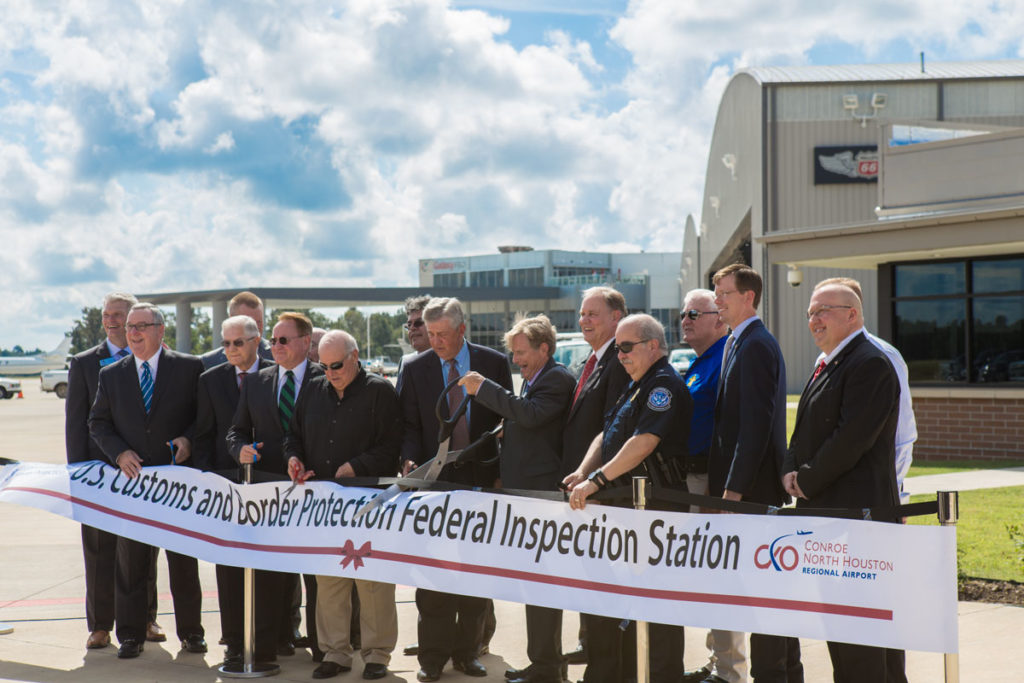 Conroe North Houston Regional Airport hosted a special Open house and Ribbon Cutting Ceremony on September 22nd which was attended by various local dignitaries.